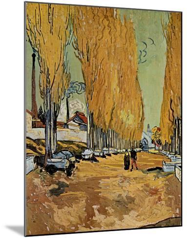 Allee des Alyscamps-Vincent van Gogh-Mounted Art Print
