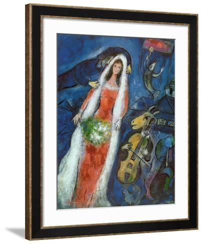 La Mariee Framed Art Print by Marc Chagall   Art.com