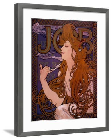 Job-Alphonse Mucha-Framed Art Print