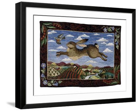 The Flying Hare-Jan Gassner-Framed Art Print