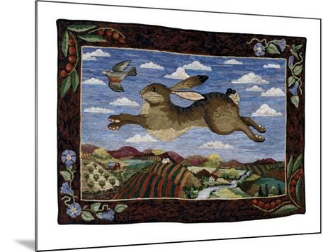 The Flying Hare-Jan Gassner-Mounted Art Print