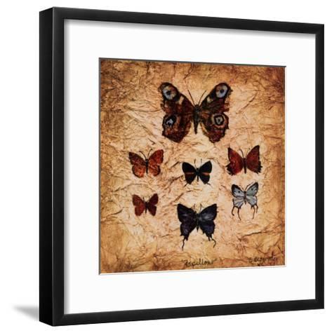 Papillons II-Claudette Beauvais-Framed Art Print