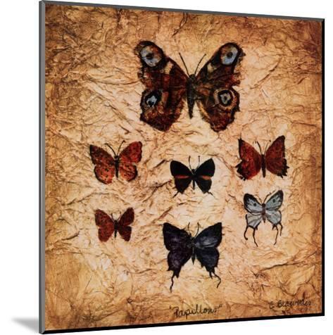 Papillons II-Claudette Beauvais-Mounted Art Print
