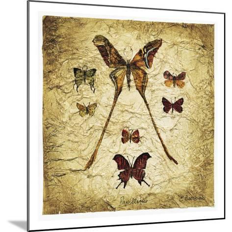 Papillons I V-Claudette Beauvais-Mounted Art Print
