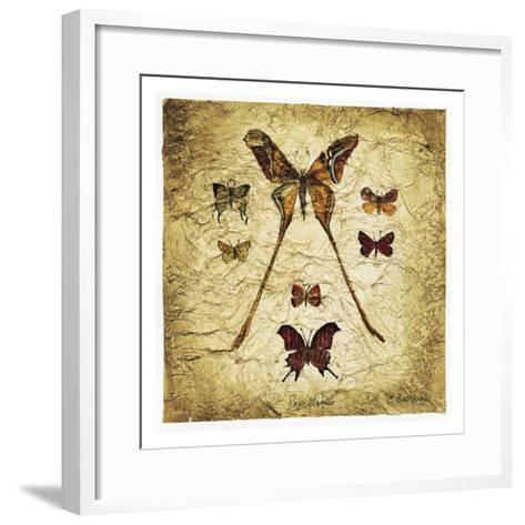 Papillons I V-Claudette Beauvais-Framed Art Print