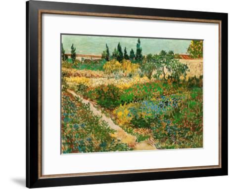 Flower Garden-Vincent van Gogh-Framed Art Print