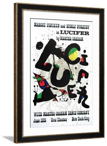 Lucifer-Joan Mir?-Framed Art Print