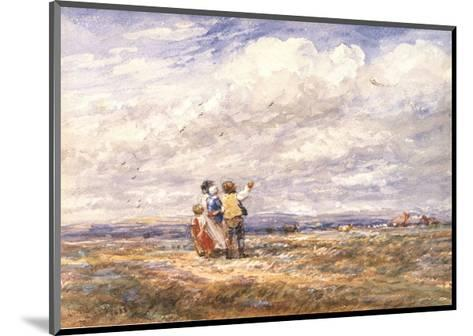Flying the Kite-David Cox-Mounted Art Print