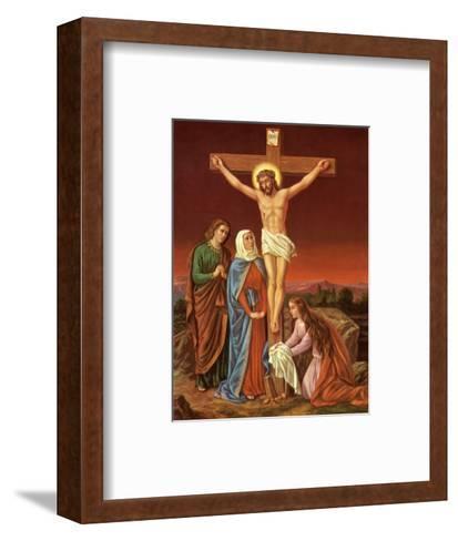 Christus am Kreuz--Framed Art Print