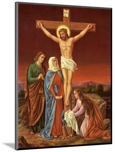 Christus am Kreuz--Mounted Art Print