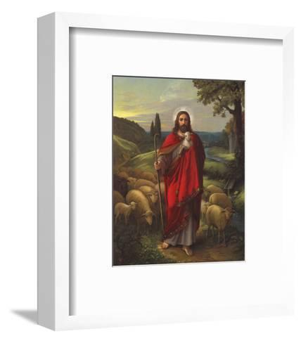 Der Gute Hirte--Framed Art Print