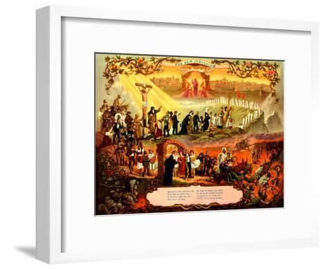 Der Weg Zum Paradies--Framed Art Print