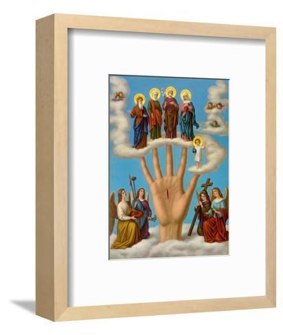 Die Hand der Allmacht--Framed Art Print
