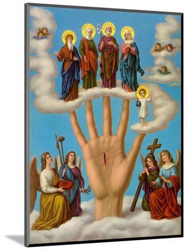 Die Hand der Allmacht--Mounted Art Print