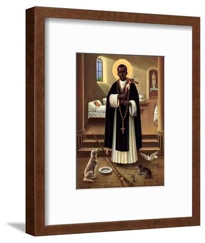 Heilige Martin von Porres--Framed Art Print