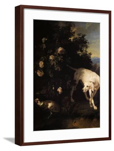 Chien Blanc en Arret-Alexandre-Francois Desportes-Framed Art Print