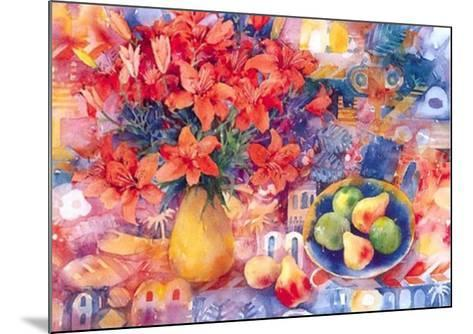 Fruit with Tiger Lilies-Mae Book-Mounted Art Print