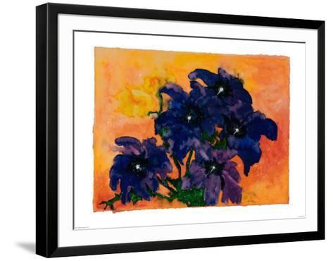 Blue Arrangement-Claude Boher-Framed Art Print