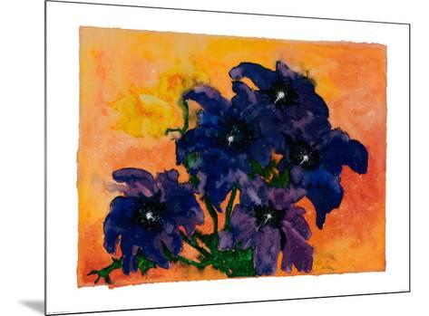Blue Arrangement-Claude Boher-Mounted Art Print