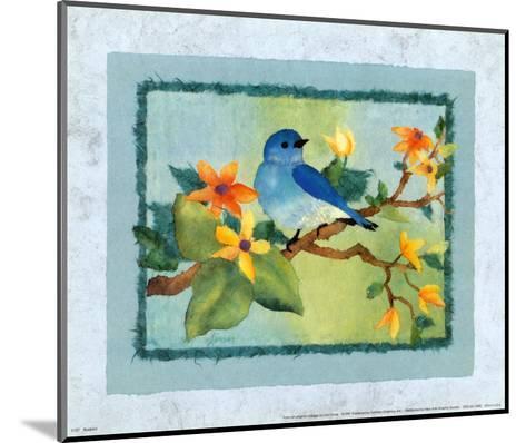 Bluebird-Linn Done-Mounted Art Print