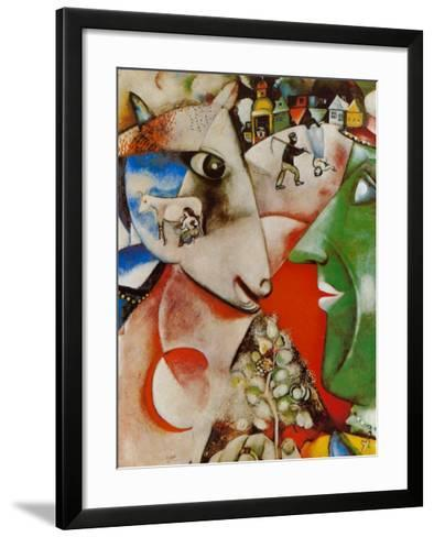I and the Village, c.1911-Marc Chagall-Framed Art Print