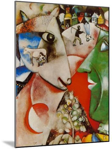 I and the Village, c.1911-Marc Chagall-Mounted Art Print