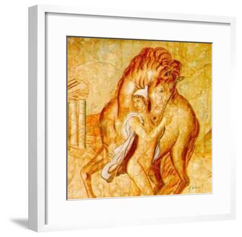 Giovane con Cavallo-Francesco D'elia-Framed Art Print