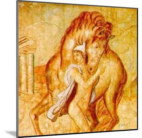 Giovane con Cavallo-Francesco D'elia-Mounted Art Print