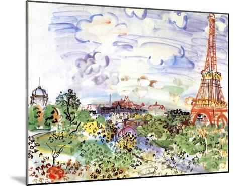 La Tour Eiffel, c.1935-Raoul Dufy-Mounted Art Print