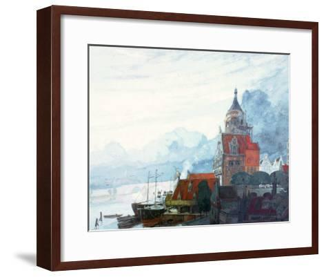 Village Pres de la Mer-Georges de Feure-Framed Art Print