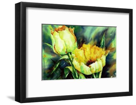 Yellow Tulips-Hanneke Floor-Framed Art Print