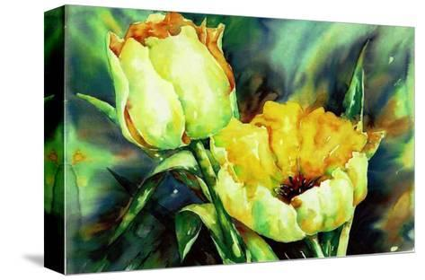 Yellow Tulips-Hanneke Floor-Stretched Canvas Print