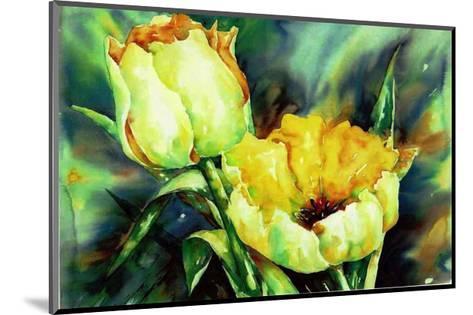 Yellow Tulips-Hanneke Floor-Mounted Art Print