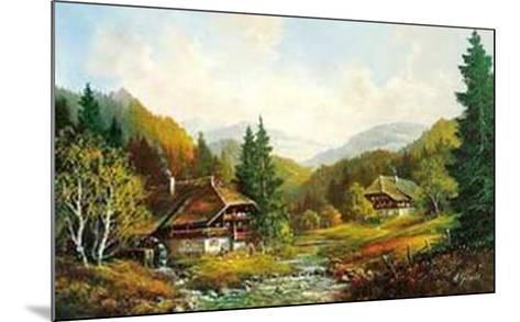 Schwarzwaldhaus-Helmut Glassl-Mounted Art Print