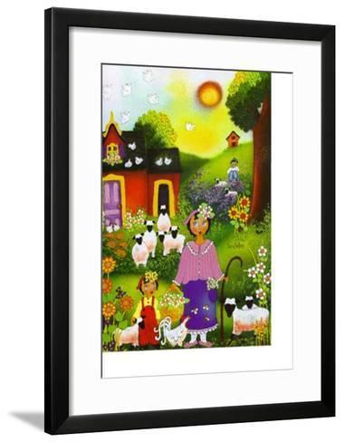 Bergerie d'Eugenie-Jenny Hellers-Framed Art Print