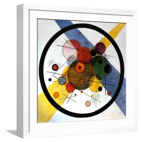 Circles in Circle-Wassily Kandinsky-Framed Art Print