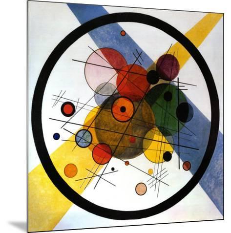 Circles in Circle-Wassily Kandinsky-Mounted Art Print