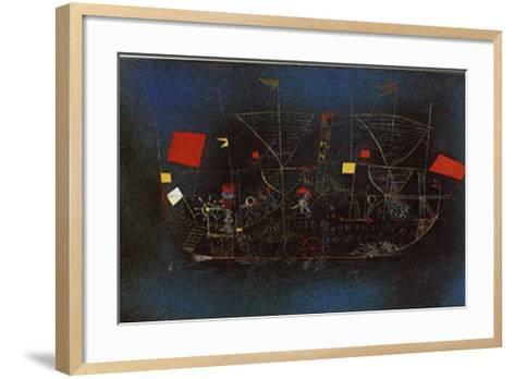 Abenteuer-Schiff-Paul Klee-Framed Art Print
