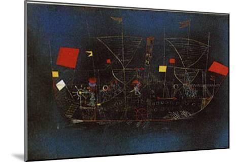 Abenteuer-Schiff-Paul Klee-Mounted Art Print