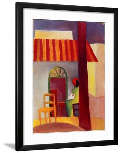 Turkisches Cafe I-Auguste Macke-Framed Art Print