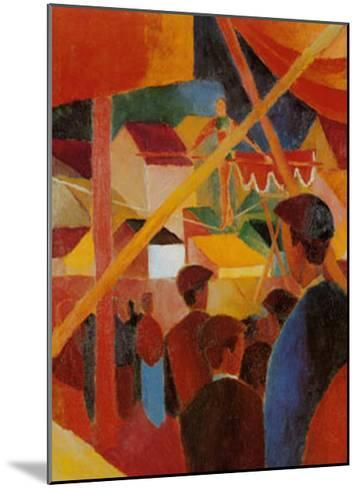 Tightrope Walker-Auguste Macke-Mounted Art Print