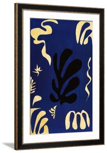 Composition Fond Bleu-Henri Matisse-Framed Art Print