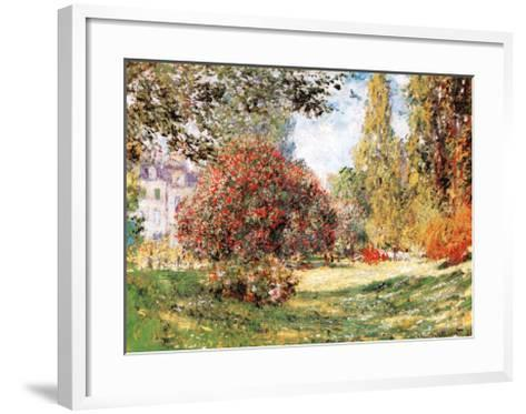 The Park at Monceau-Claude Monet-Framed Art Print