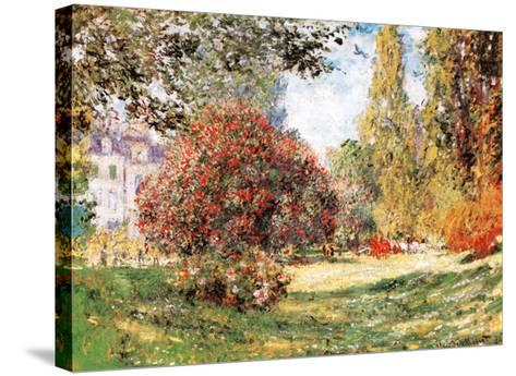 The Park at Monceau-Claude Monet-Stretched Canvas Print