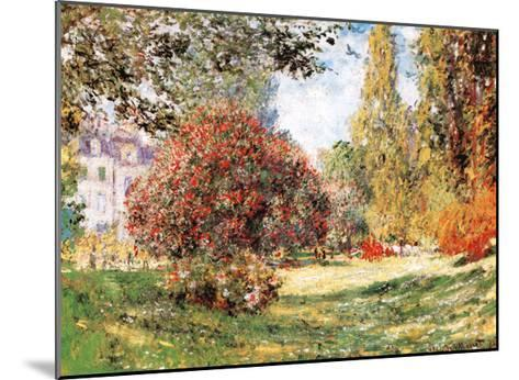 The Park at Monceau-Claude Monet-Mounted Art Print