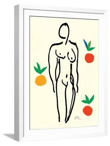 Nude with Oranges-Henri Matisse-Framed Art Print
