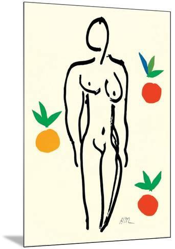 Nude with Oranges-Henri Matisse-Mounted Art Print