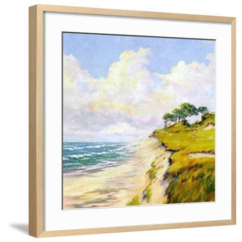 Coastal Lanscape-W^ Neck-Framed Art Print