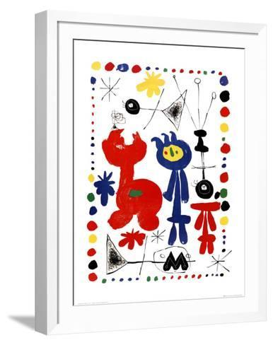 Personnage et Oiseaux-Joan Mir?-Framed Art Print