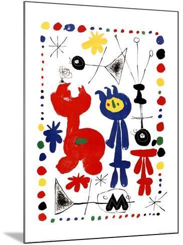 Personnage et Oiseaux-Joan Mir?-Mounted Art Print